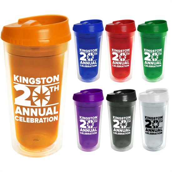 TC18A - 20 oz. Transparent Tumbler - Auto Sip Lid